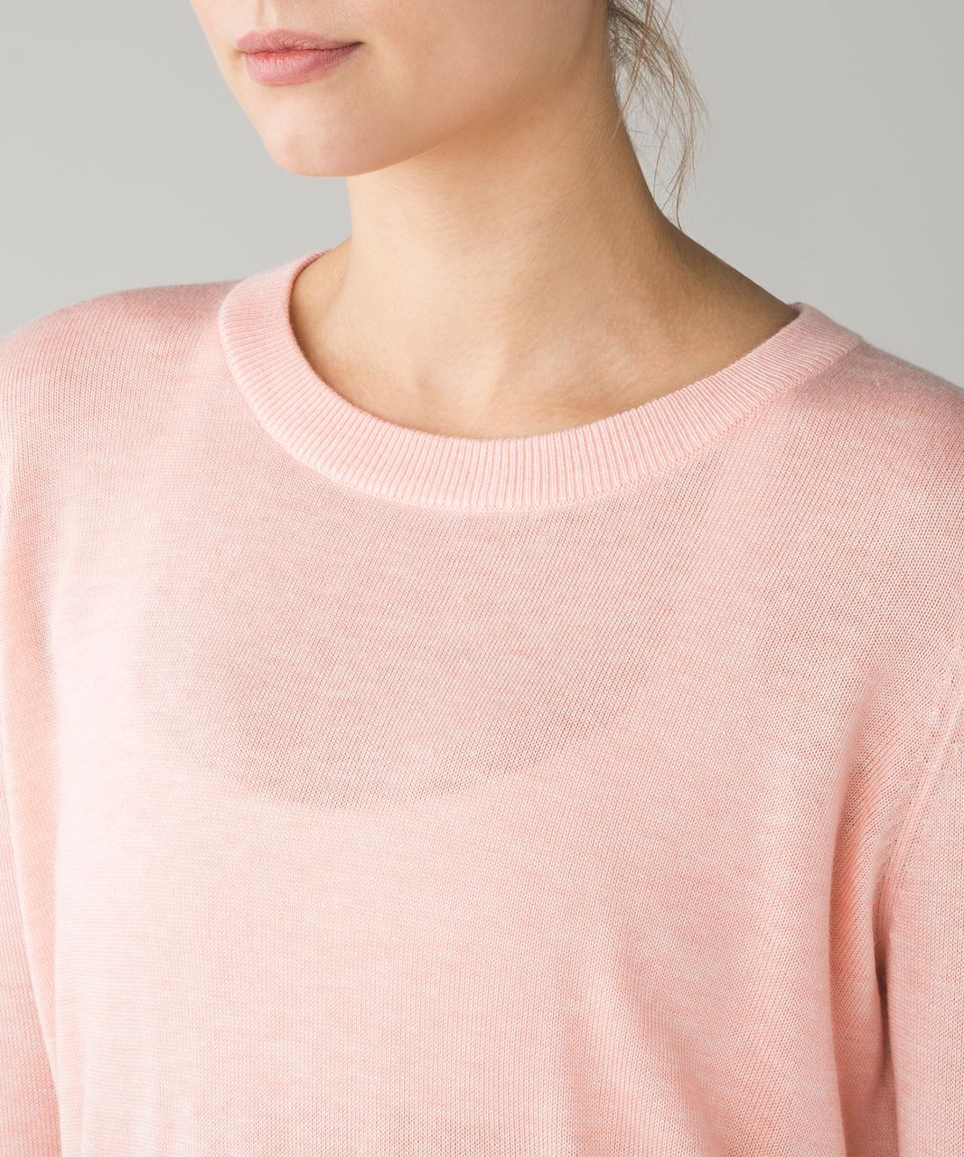 Lululemon Bring It Backbend Sweater - Heathered Minty Pink