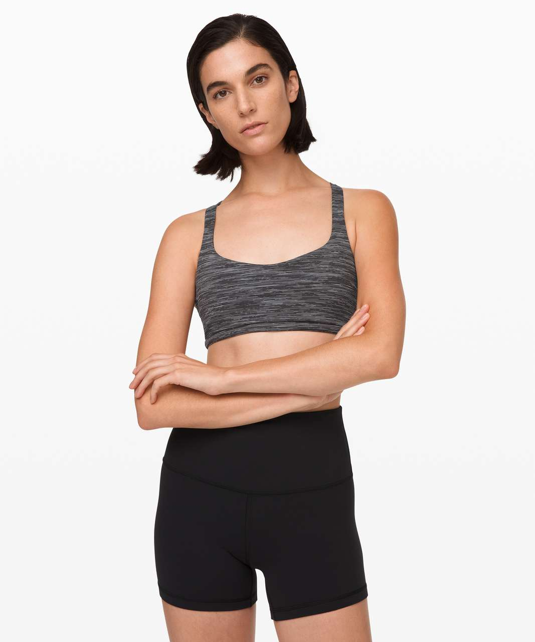 Lululemon Free To Be Bra (Wild) - Wee Are From Space Dark Carbon Ice Grey