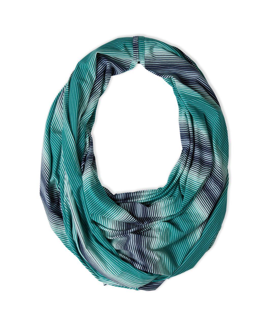 Lululemon Sage Scarf (Cotton) - Sunset Stripe Hunter Green Sea Mist