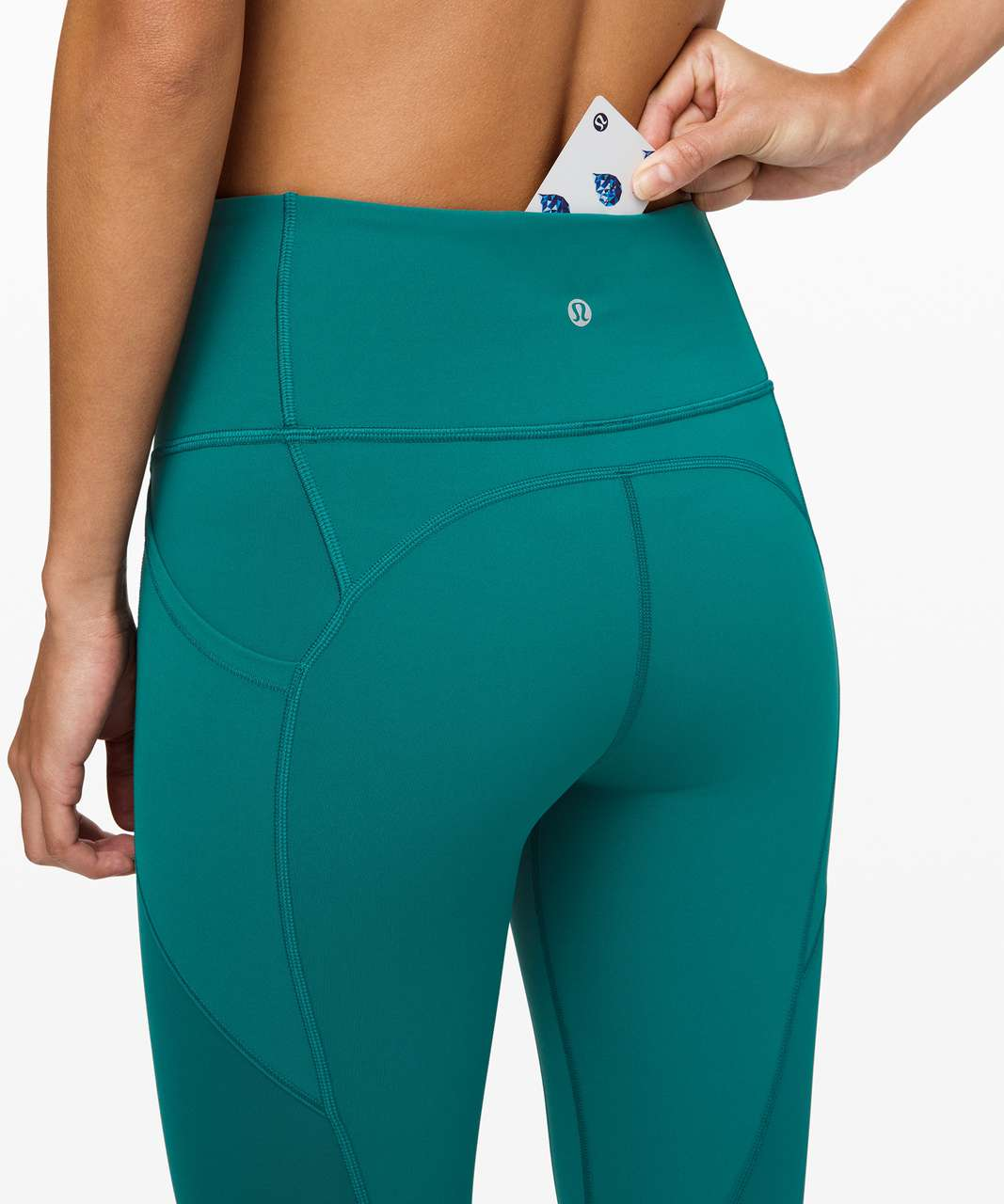 """Lululemon All The Right Places Crop II *23"""" - Laguna"""