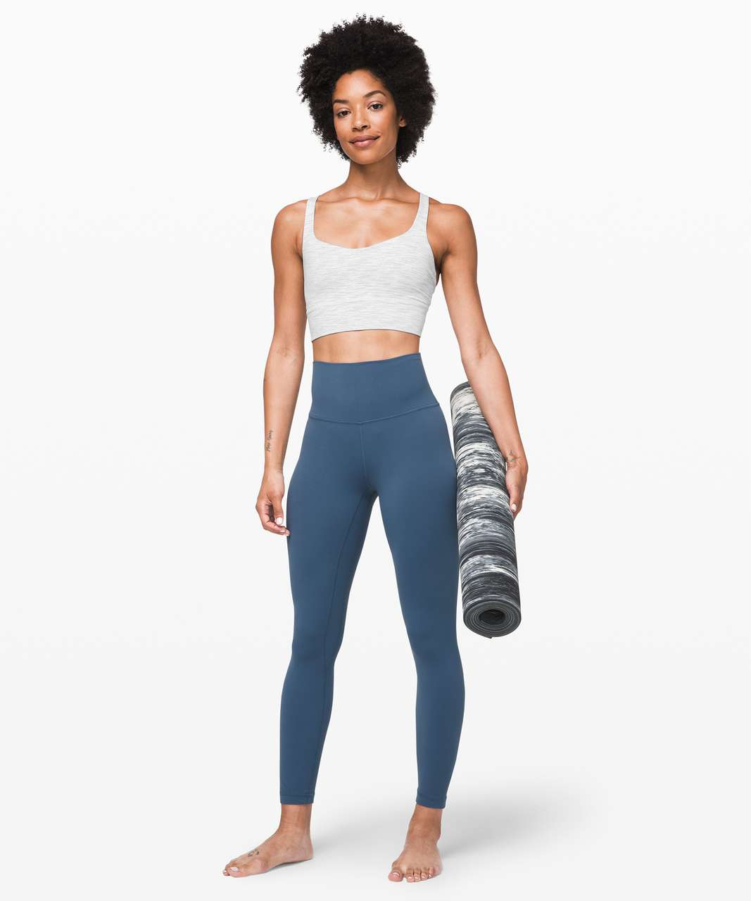 Lululemon Free To Be Bra *Long Line - Wee Are From Space Nimbus Battleship