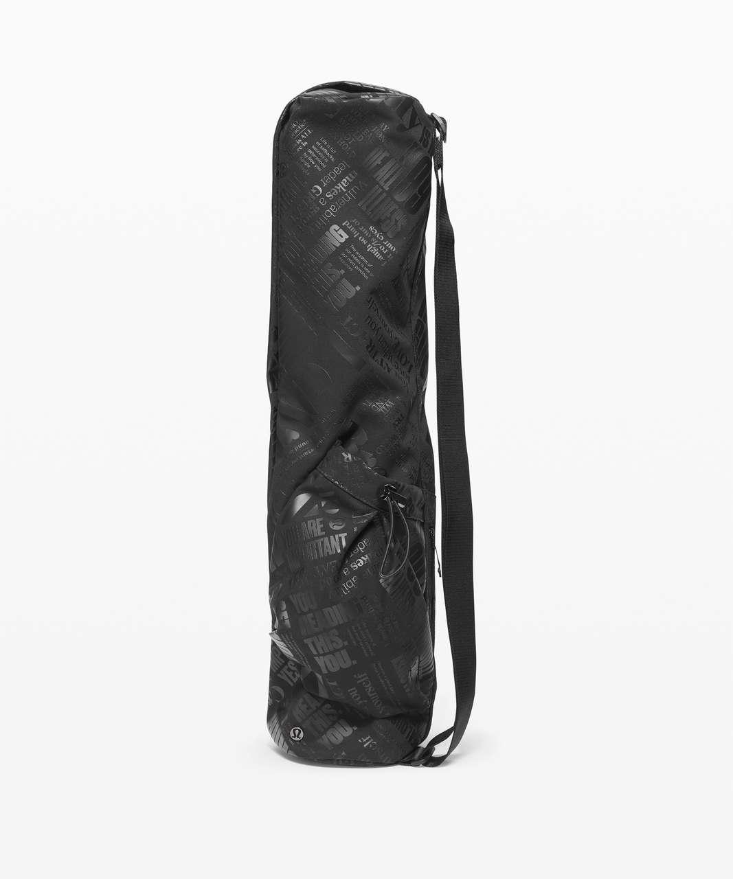 Lululemon The Yoga Mat Bag *16L - Black / TRANSPARENT