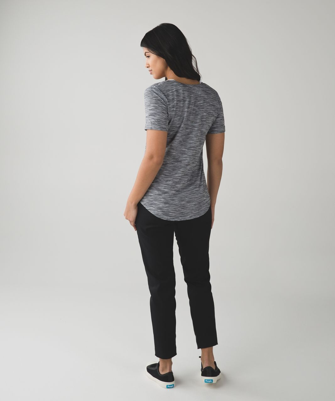 Lululemon Love Tee II - 4 Color Space Dye White Black