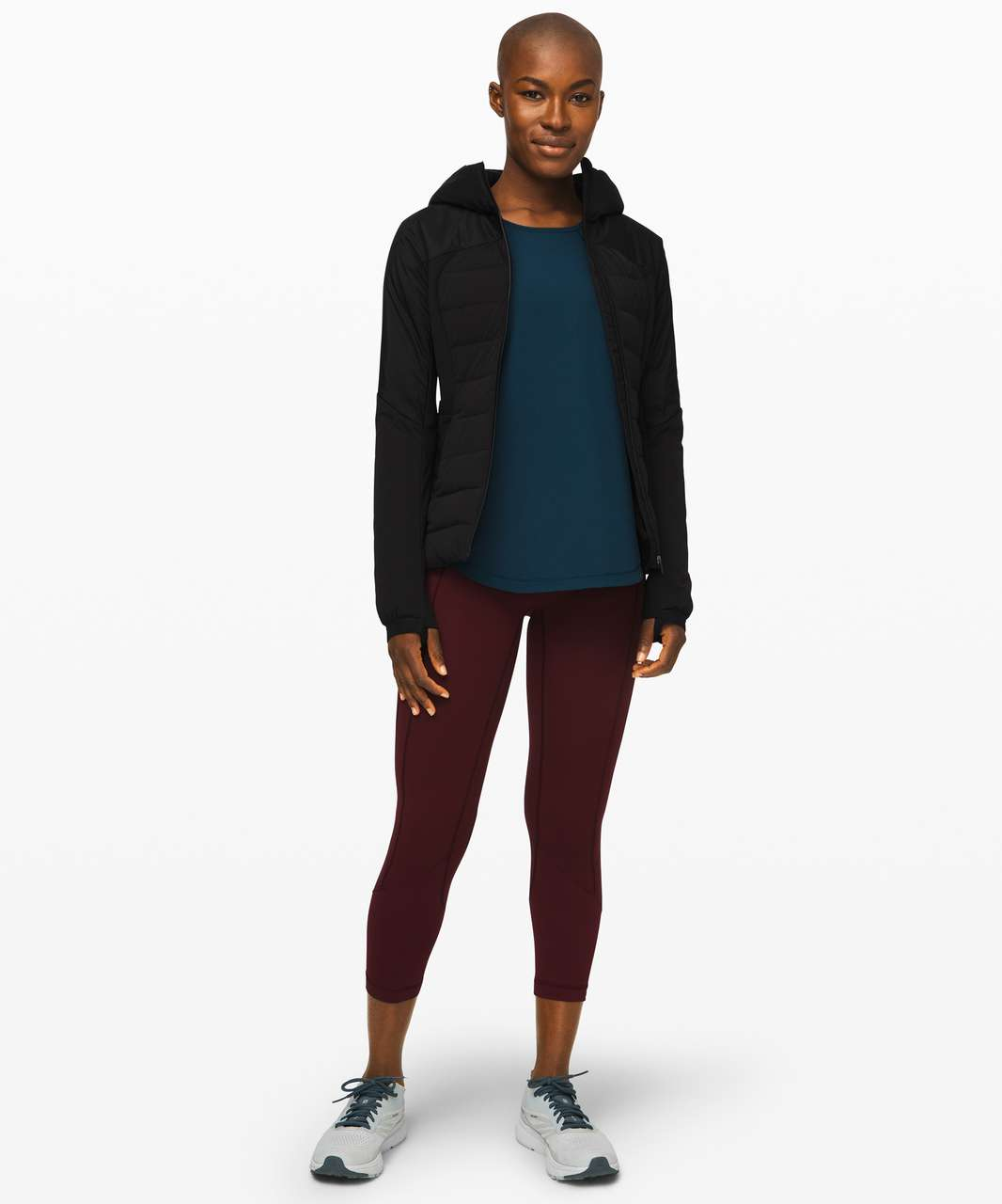 """Lululemon All The Right Places Crop II *23"""" - Garnet"""