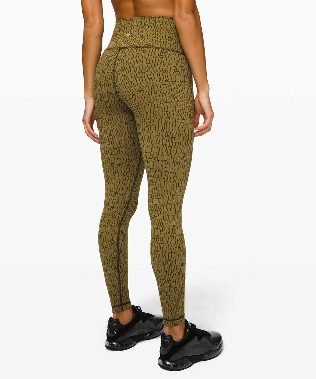 "Lululemon Wunder Under High-Rise Tight 28"" *Luxtreme - Stacked Jacquard Mossy Dark Olive"
