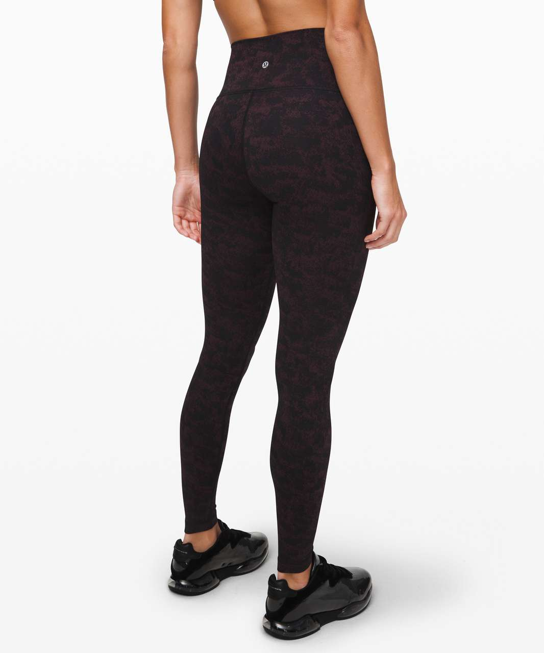 "Lululemon Wunder Under High-Rise Tight 28"" *Luxtreme - Misted Jacquard Black Black Cherry"