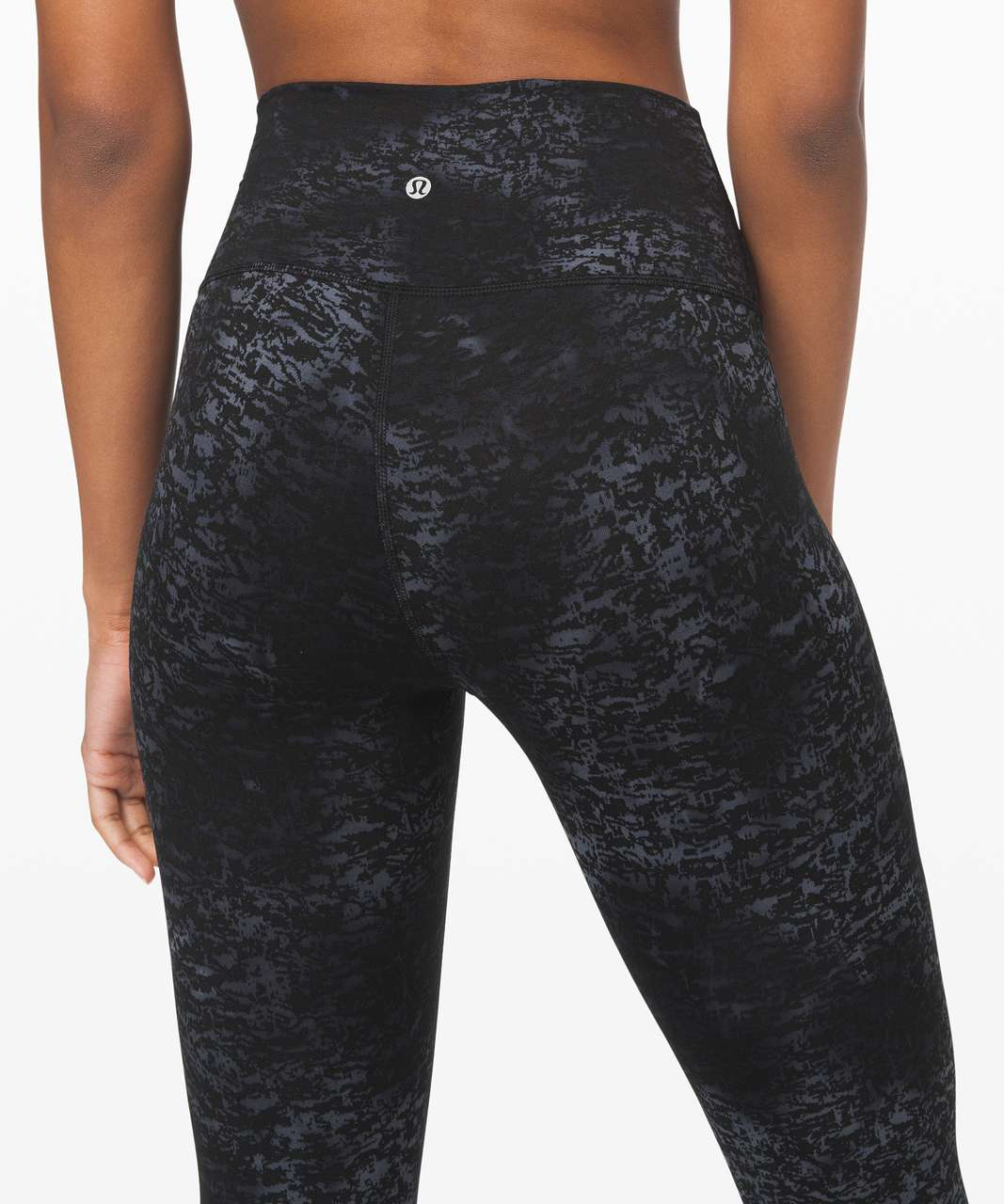 "Lululemon Wunder Under High-Rise Tight 28"" *Luxtreme - Untamed Jacquard Spray Dye Black Deep Coal"