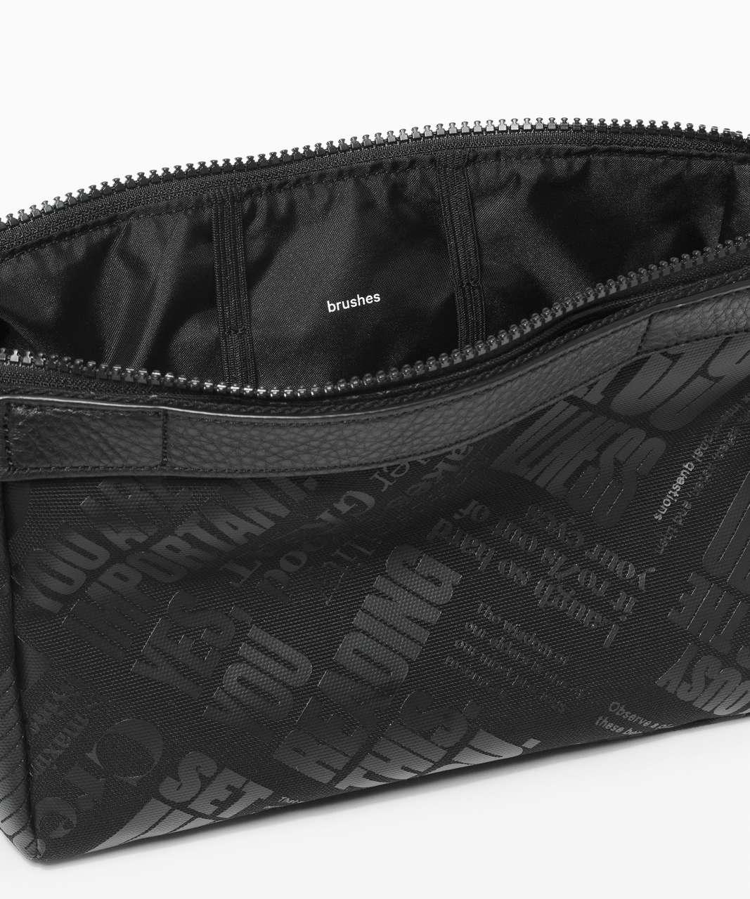 Lululemon Travel Easy Kit - Black / TRANSPARENT