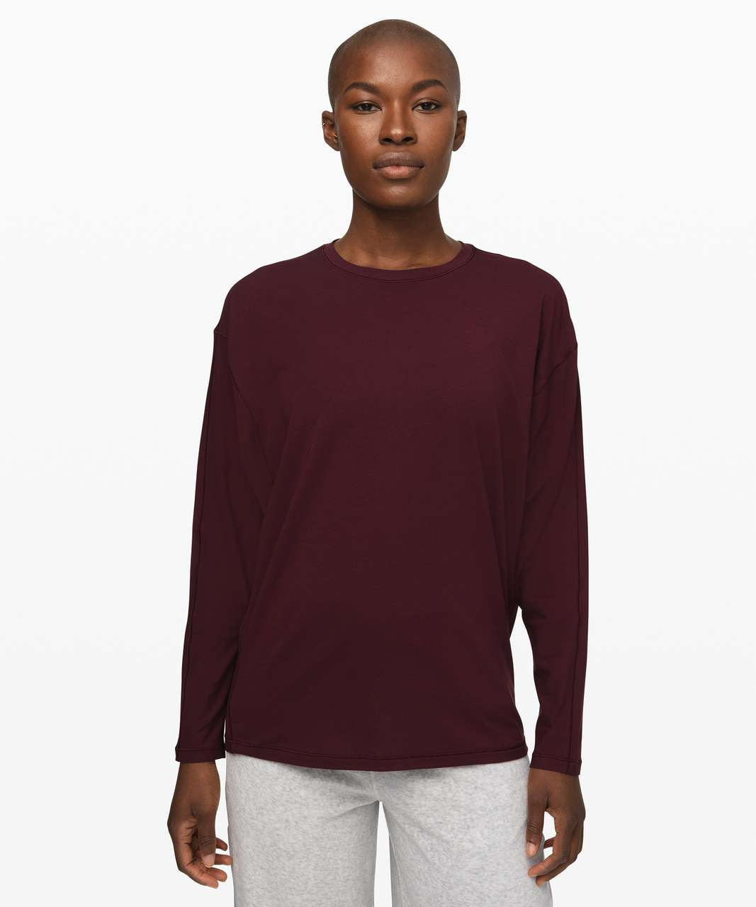 Lululemon Loungeful Drape Long Sleeve - Garnet