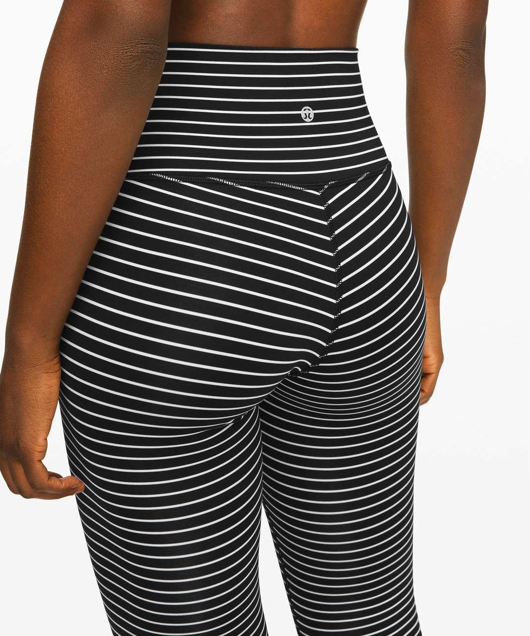 "Lululemon Wunder Under High-Rise Tight 25"" *Luxtreme - Parallel Stripe Black White"