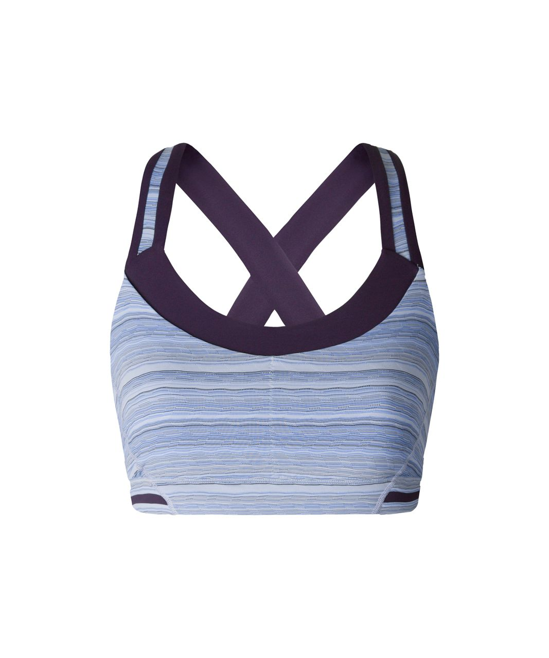 Lululemon Rack Pack Bra - Wave Twist Lilac Caspian Blue / Deep Zinfandel