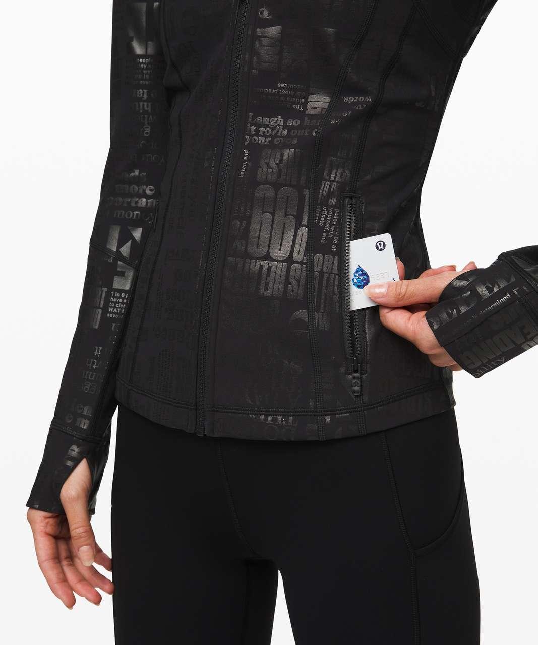 Lululemon Define Jacket *Manifesto - 20YR Manifesto Foil Black Black