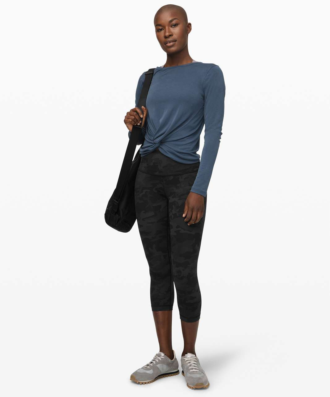"""Lululemon Wunder Under Crop (High-Rise) *Full-On Luxtreme 21"""" - Incognito Camo Multi Grey"""