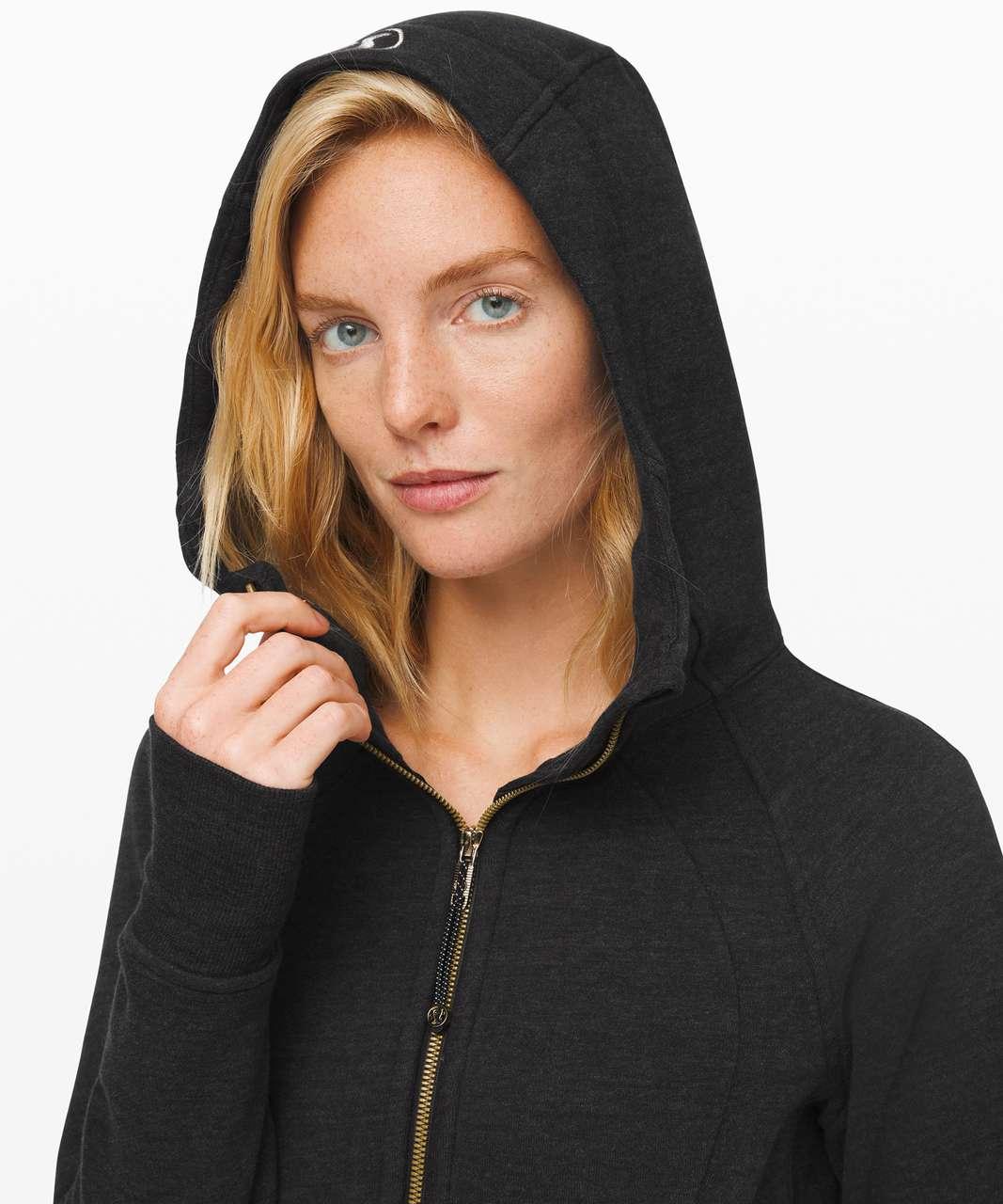 Lululemon Scuba Hoodie *Light Cotton Fleece - Heathered Core Black / Gold