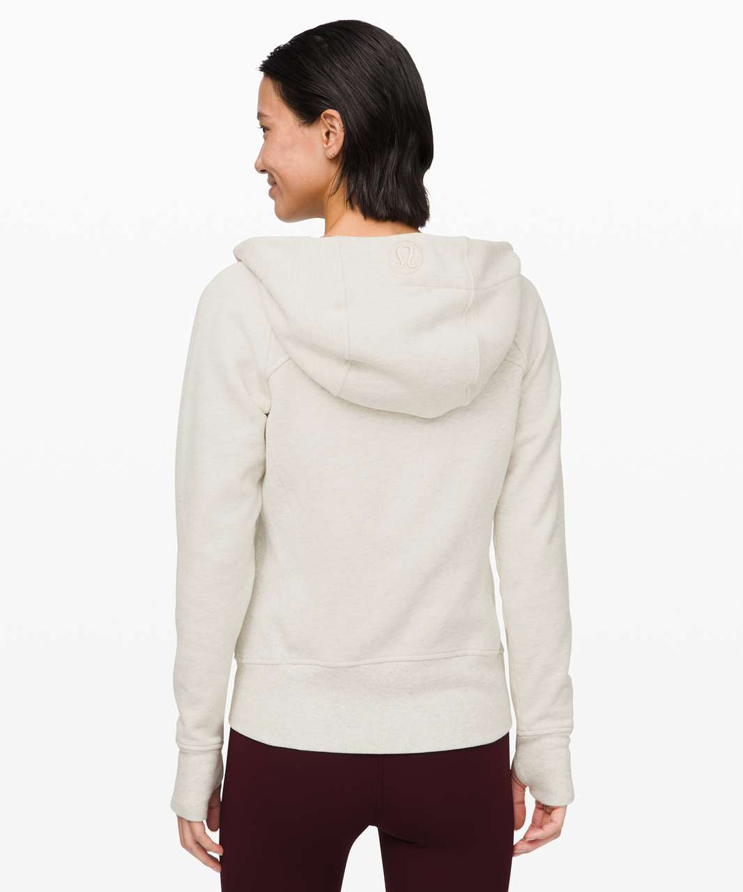 Lululemon Scuba Hoodie *Light Cotton Fleece - Heathered Light Ivory / Gold