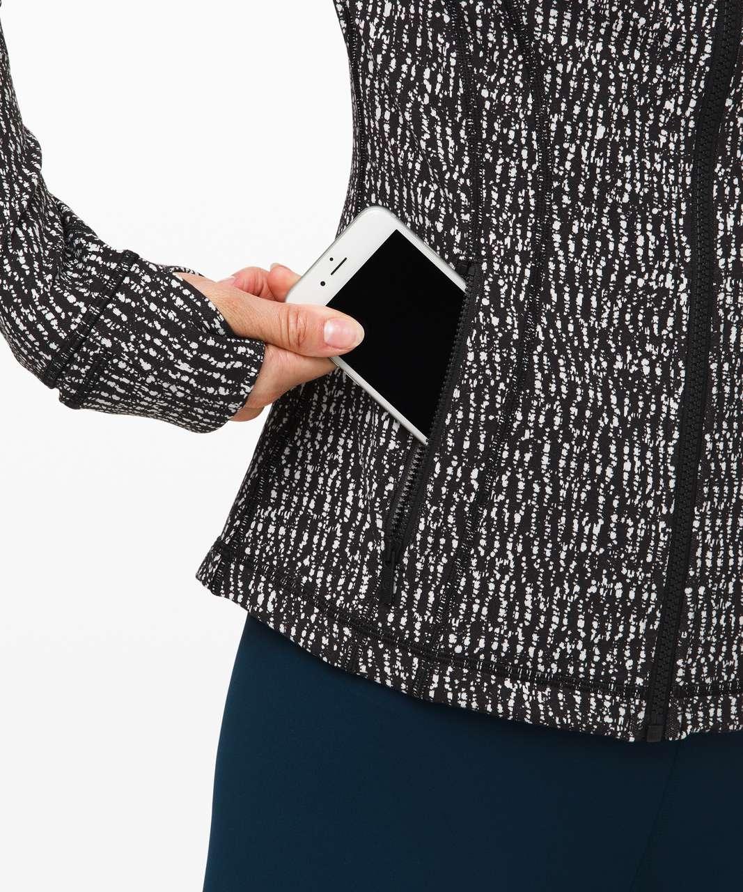 Lululemon Define Jacket - Knotted Jacquard Black White