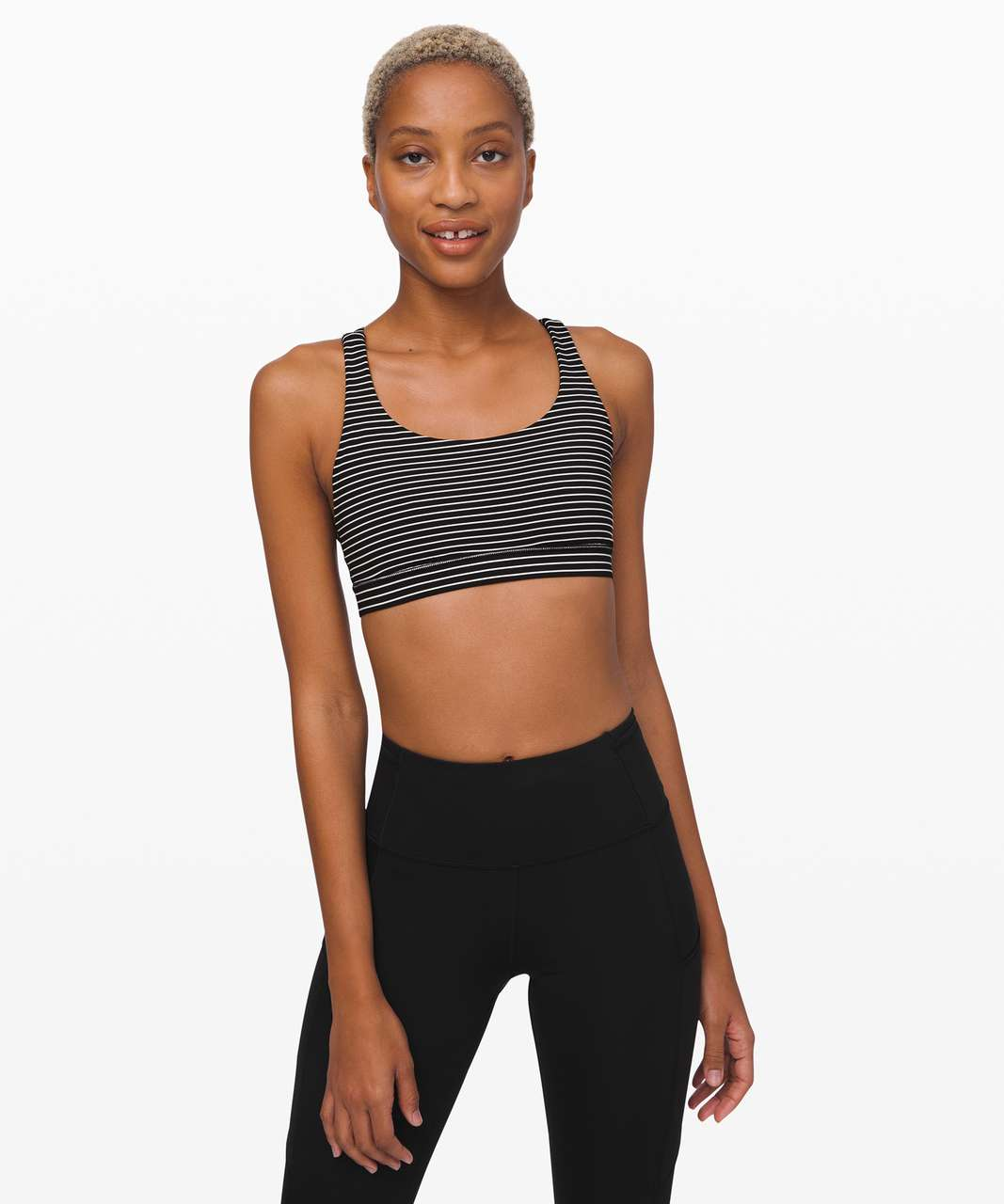 Lululemon Energy Bra - Mod Stripe Black White