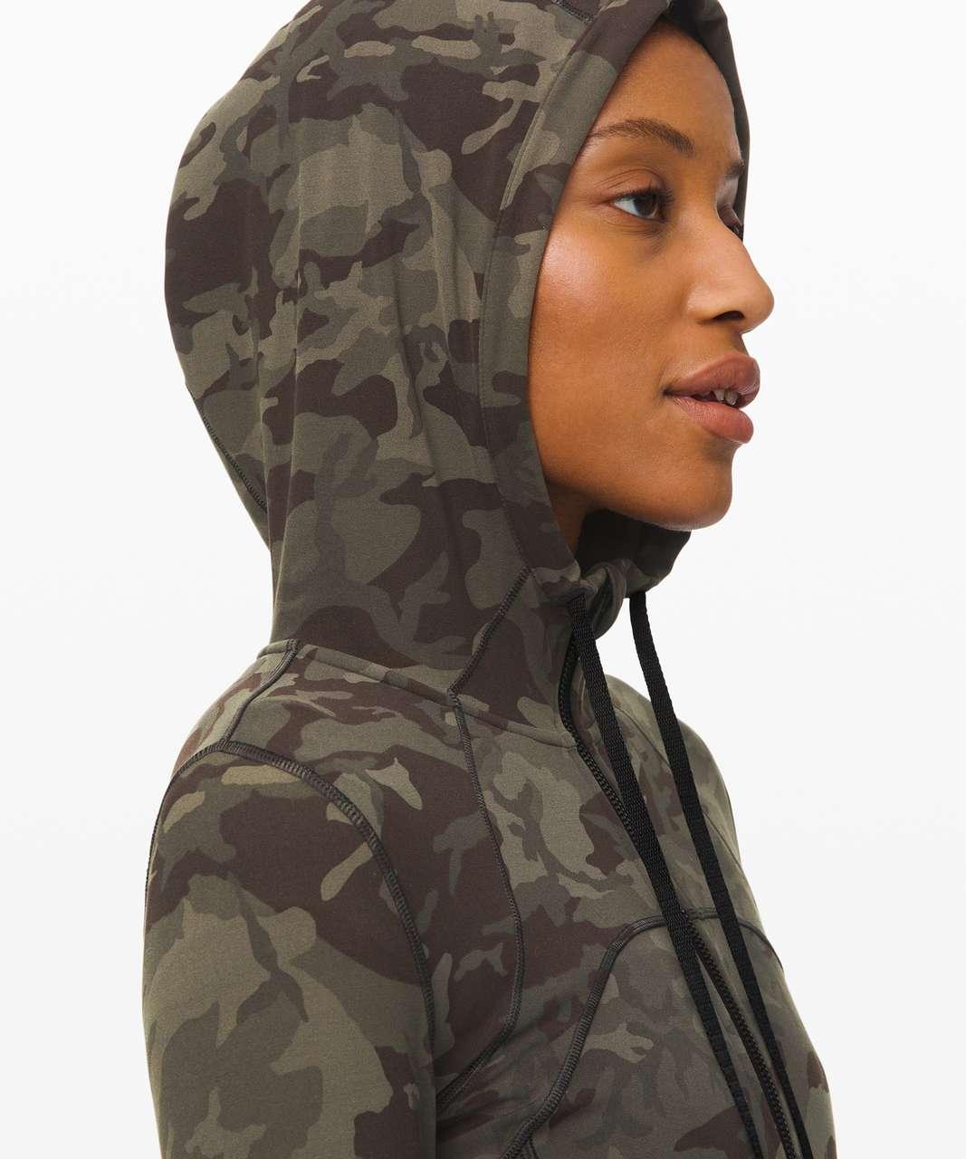 Lululemon Hooded Define Jacket *Nulu - Incognito Camo Multi Gator Green