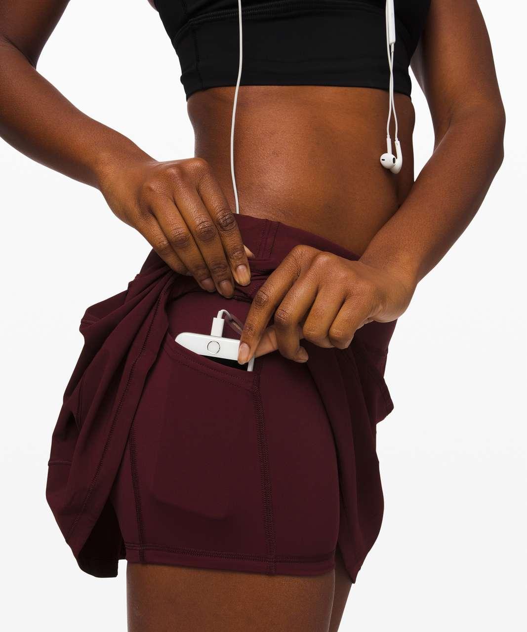 """Lululemon Pace Rival Skirt (Tall) *4-way Stretch 15"""" - Garnet"""