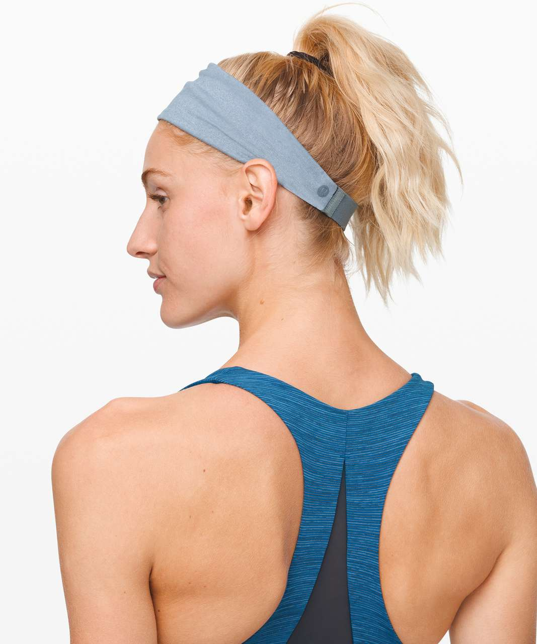 Lululemon Fringe Fighter Headband - Cosmic Shift Multi / Heathered Blue Charcoal