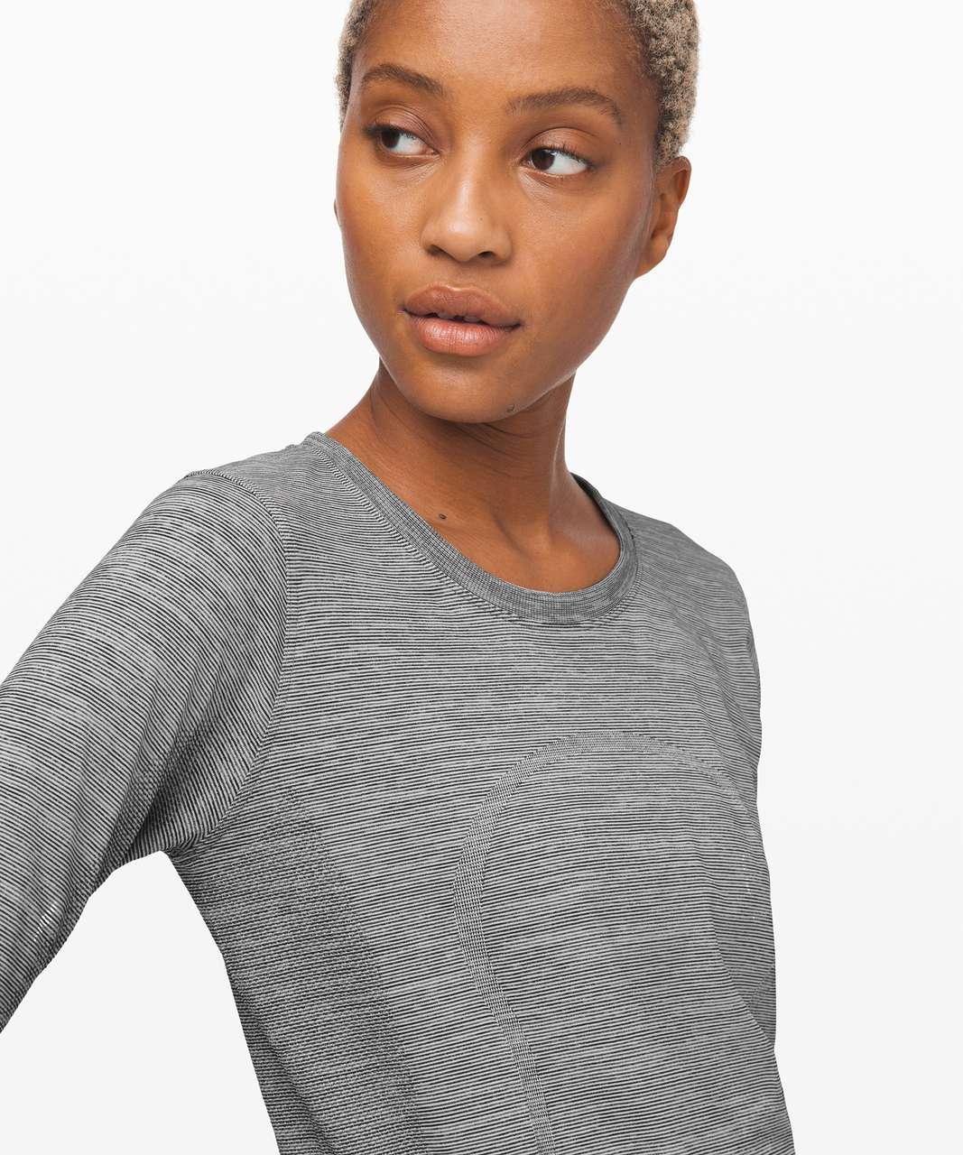 Lululemon Swiftly Relaxed Long Sleeve - White / White / Black