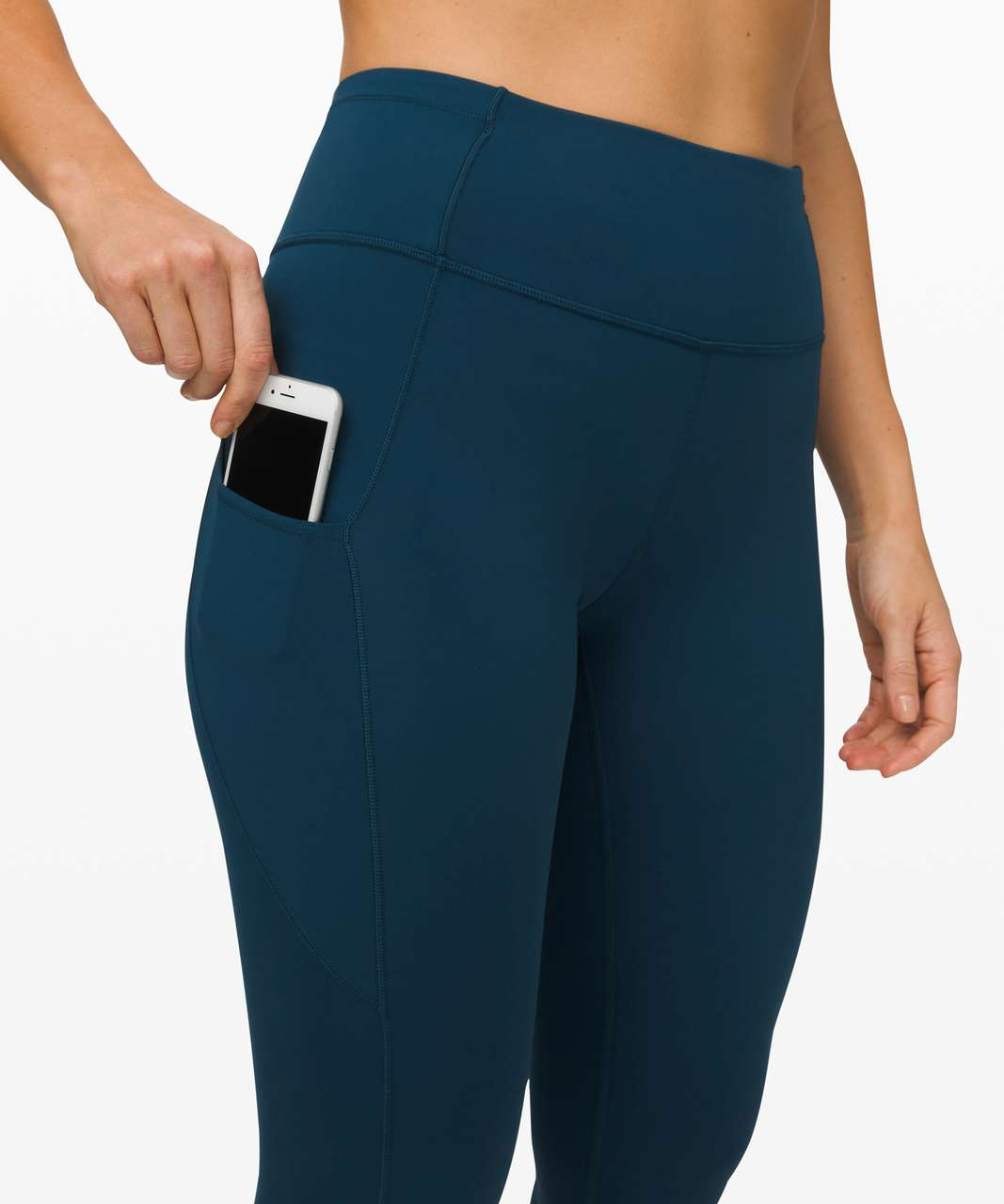 Lululemon Fast and Free High-Rise Crop II *Non-Reflective Nulux - Night Diver