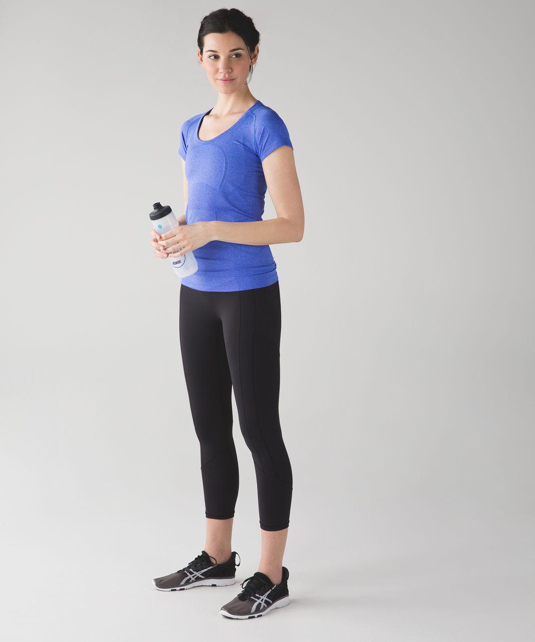 Lululemon Swiftly Tech Short Sleeve Scoop - Heathered Harbor Blue