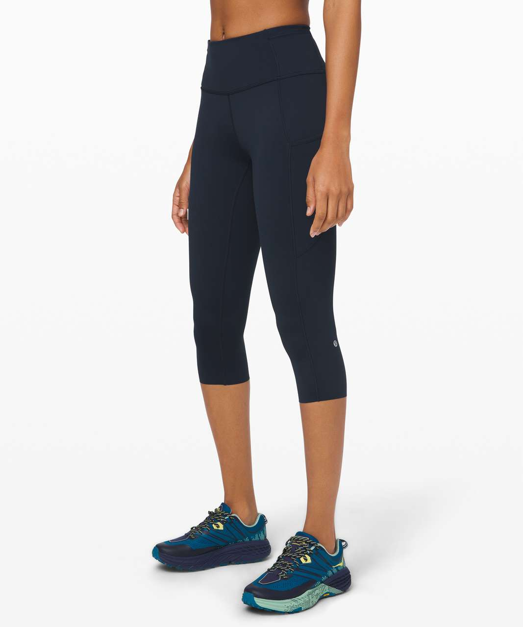 """Lululemon Fast and Free Crop II 19"""" *Non-Reflective - True Navy"""