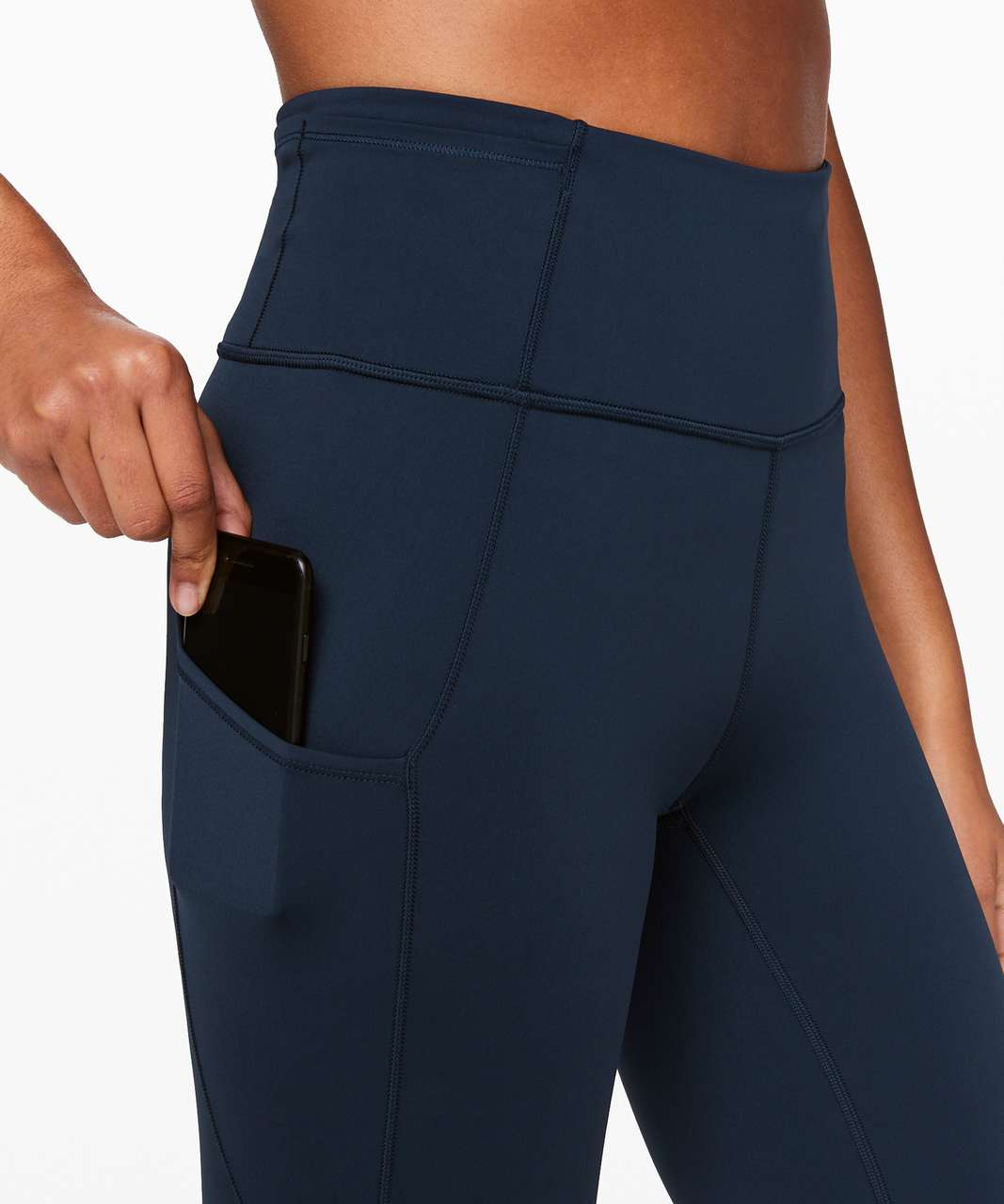 """Lululemon Fast and Free High-Rise Crop II 23"""" *Non-Reflective - True Navy"""