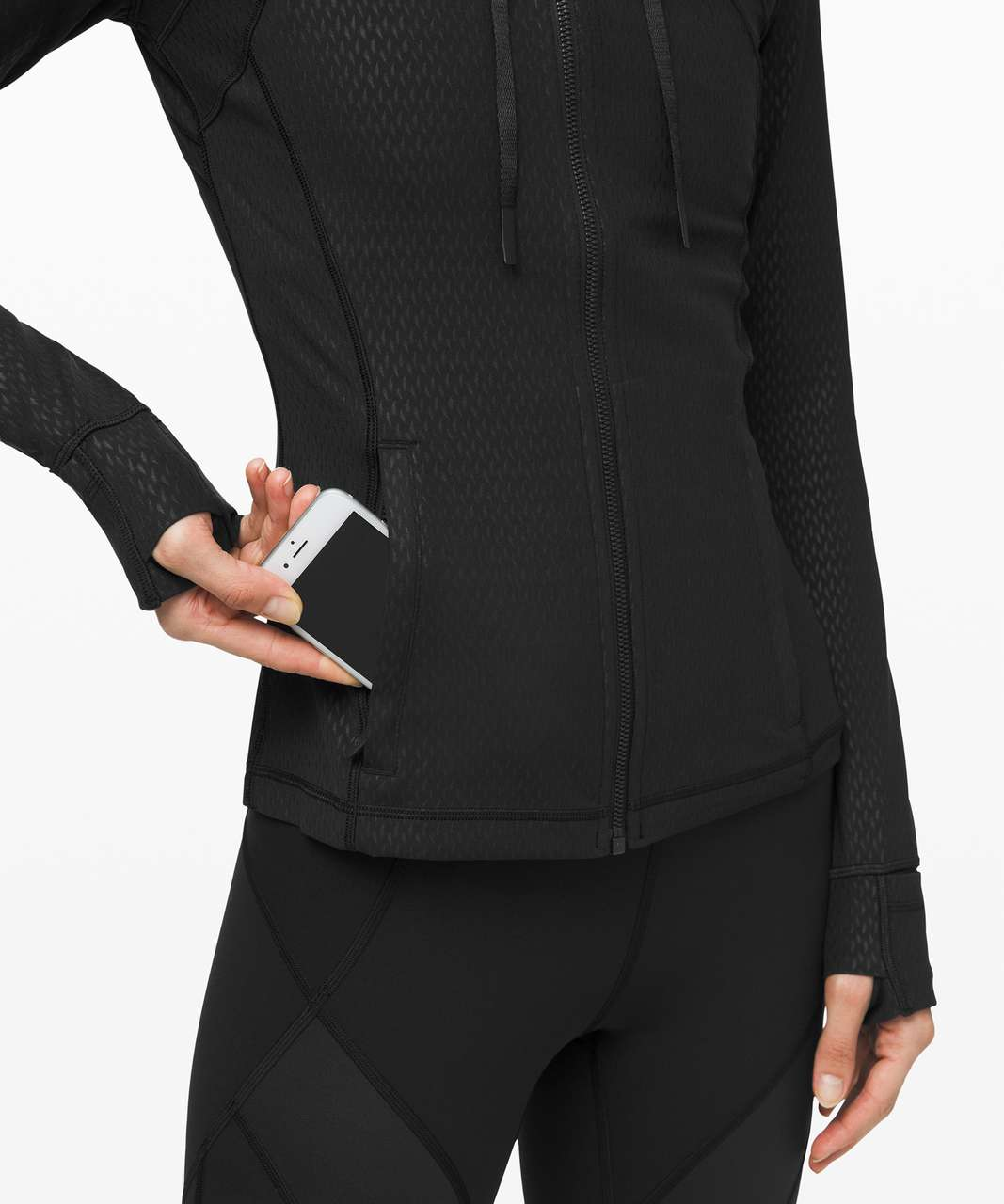 Lululemon Hooded Define Jacket *Nulu - Diverge Emboss Black