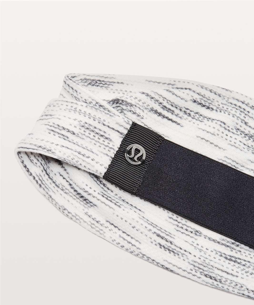 Lululemon Fringe Fighter Headband - Tiger Space Dye Black White