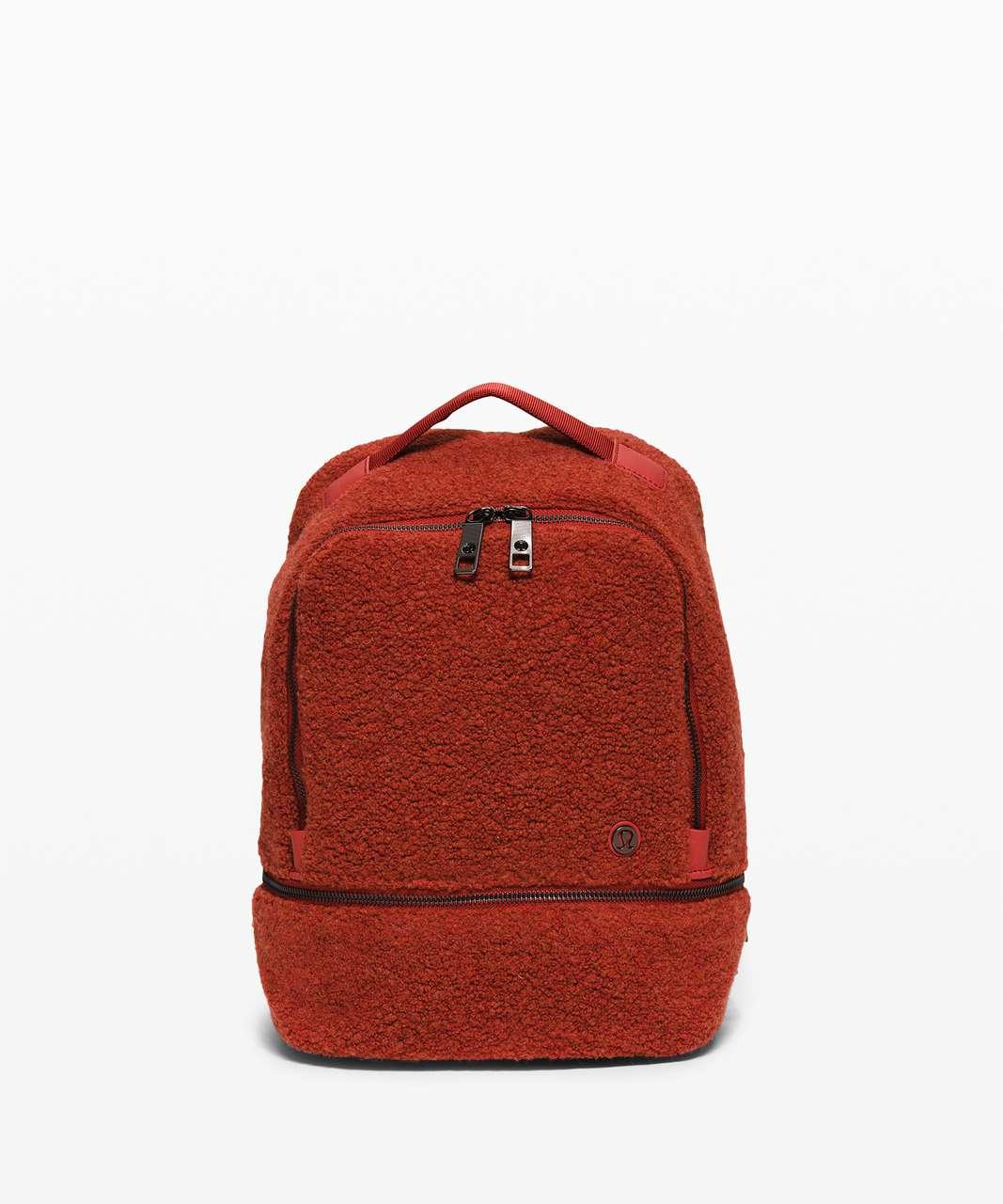 Lululemon City Adventurer Backpack Mini *Sherpa Fleece 10L - Heathered Magma
