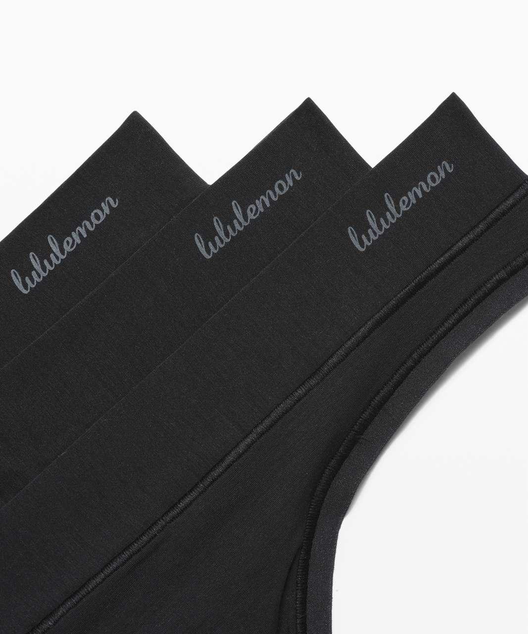 Lululemon Mula Bandhawear Thong *3 Pack - Black / Black / Black