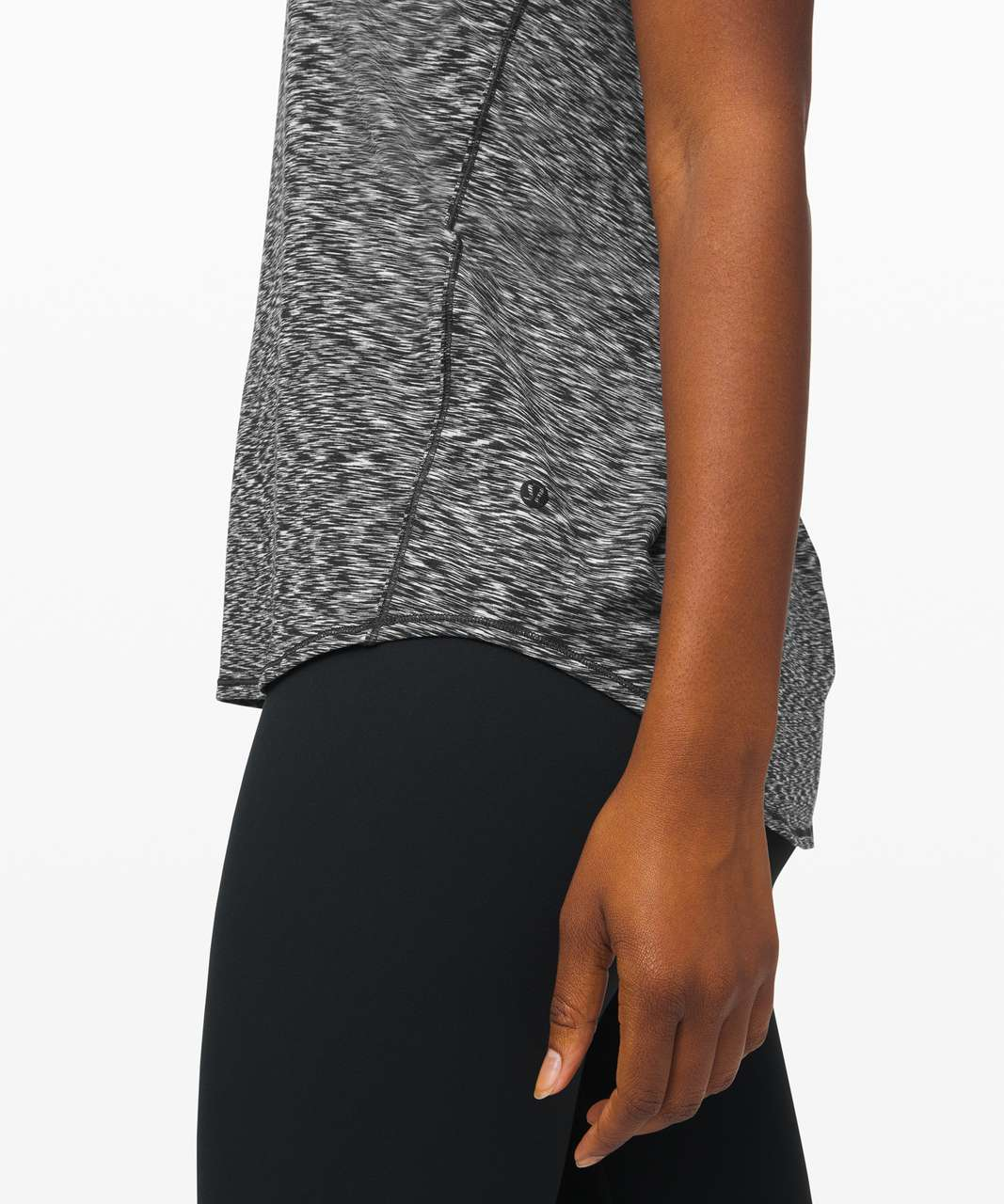 Lululemon Essential Tank *Pleated - Spaced Out Space Dye Black White