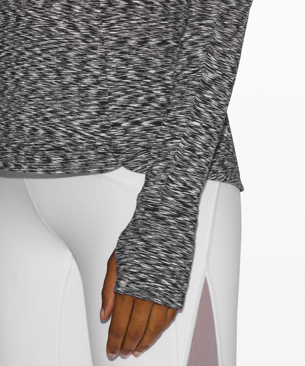 Lululemon Runderful Long Sleeve - Spaced Out Space Dye Black White