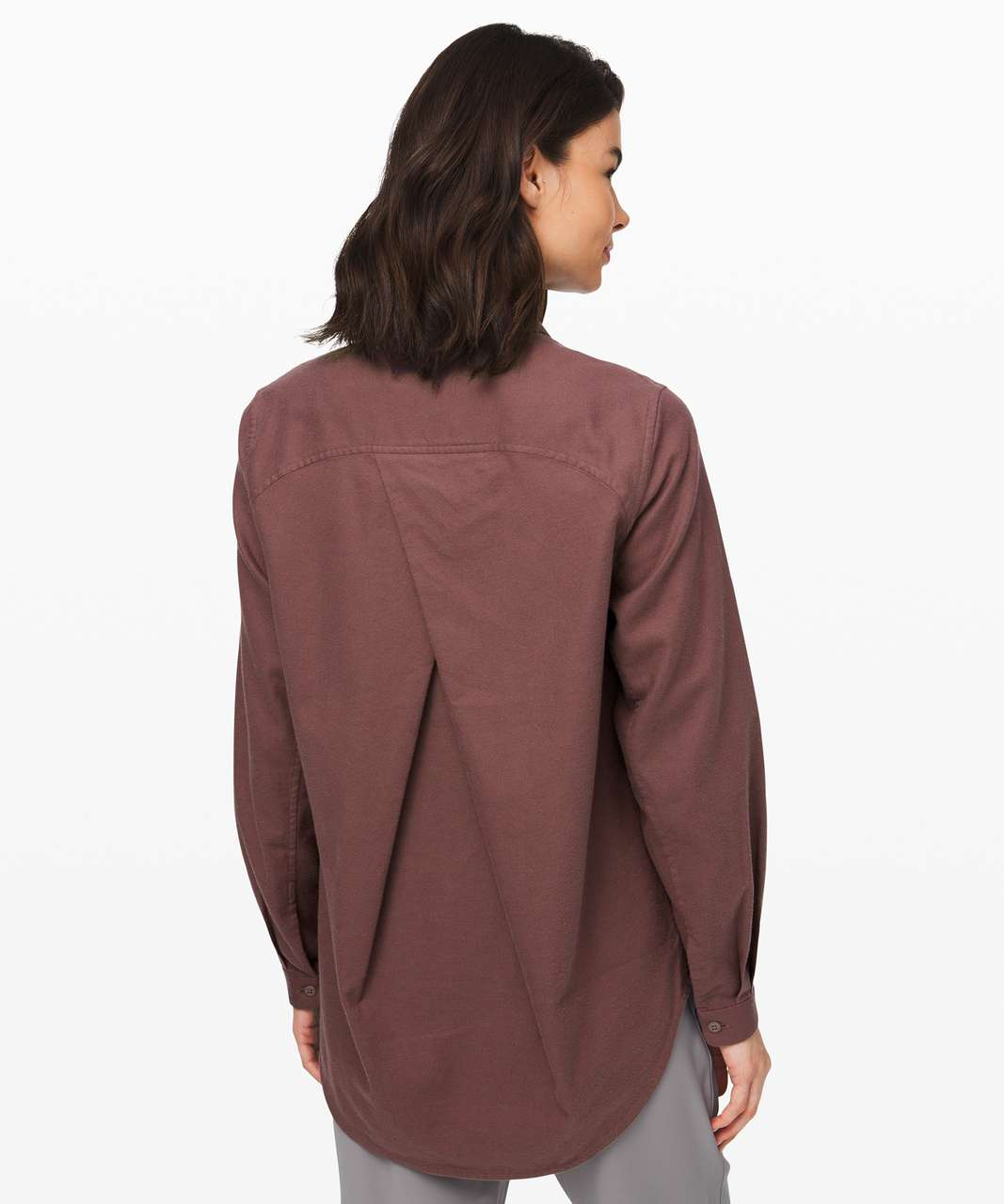 Lululemon Full Day Ahead Shirt - Antique Bark / Antique Bark