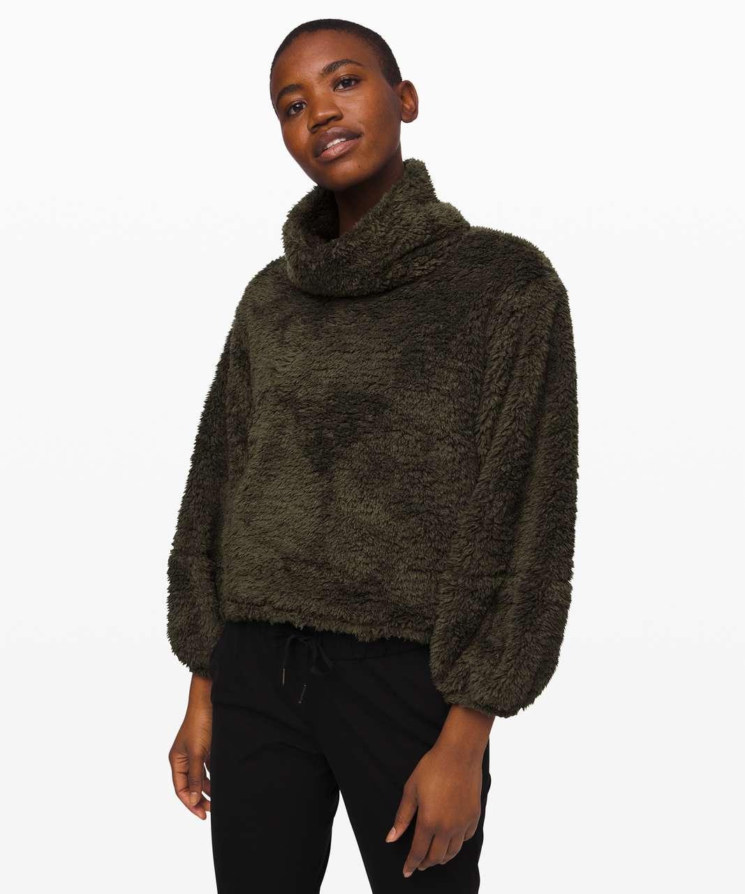Lululemon Warmth Restore Sherpa Pullover - Dark Olive