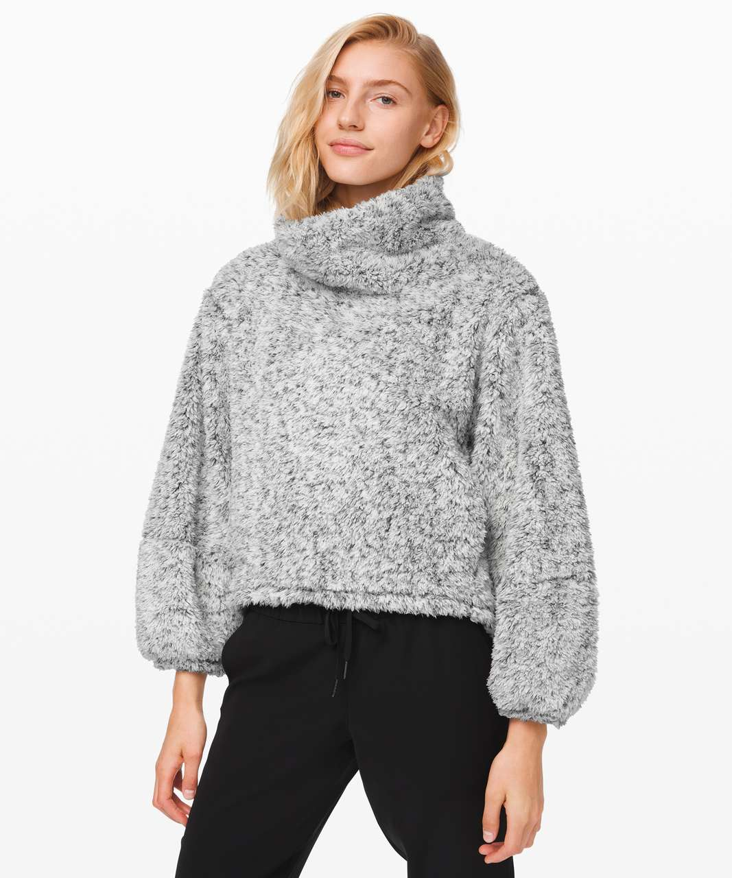 Lululemon Warmth Restore Sherpa Pullover - Heathered White