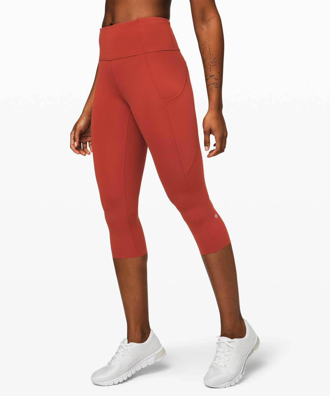 "Lululemon Fast and Free Crop II 19"" *Non-Reflective - Magma"