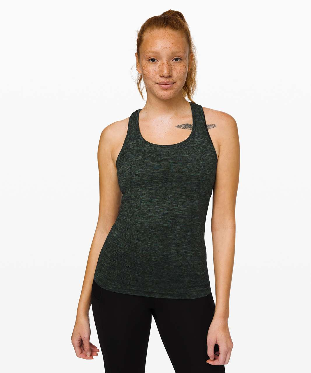 Lululemon Swiftly Speed Racerback - Black / Deep Coal / Clean Green / Azure