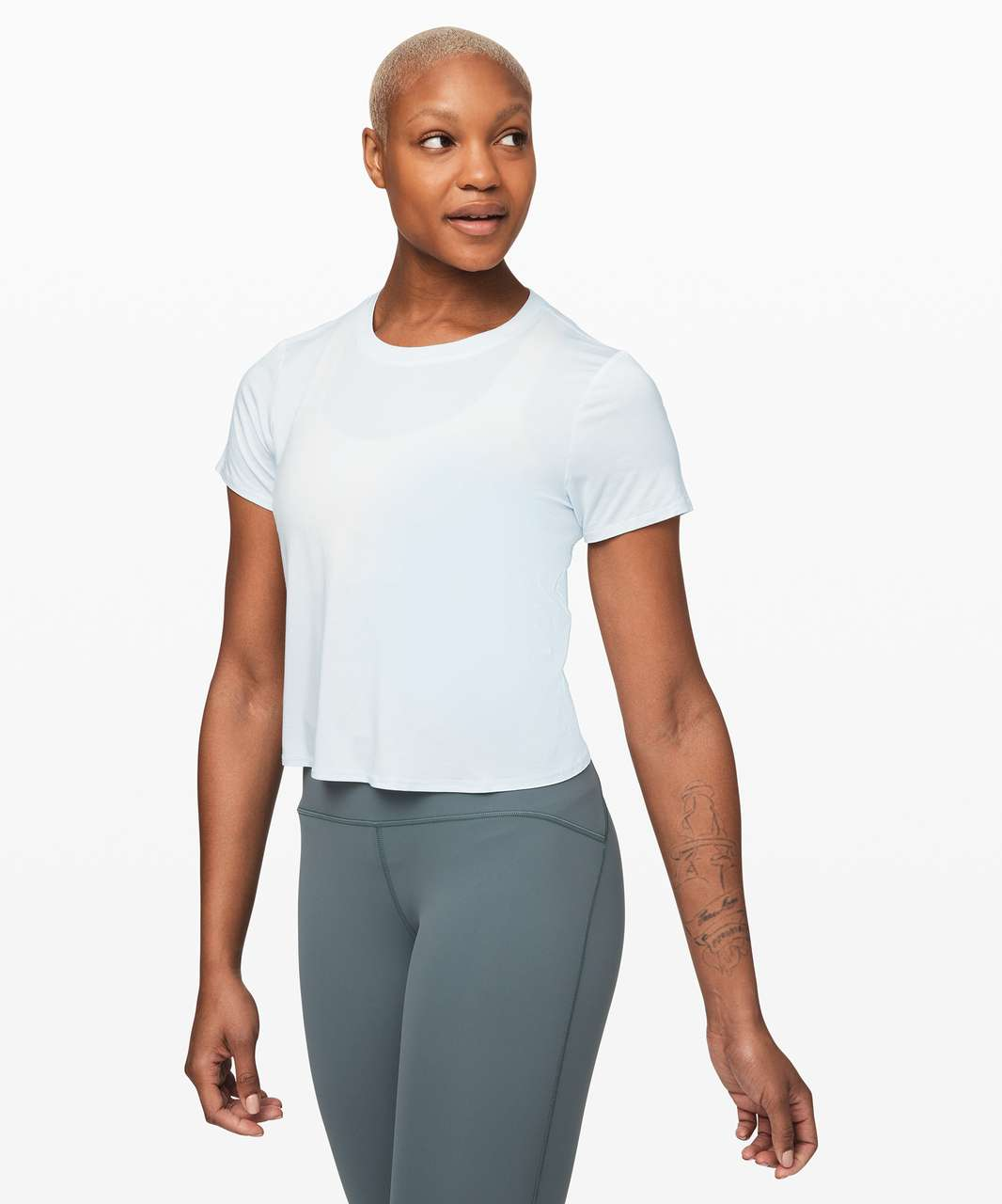 Lululemon Action Always Short Sleeve - Almost Blue