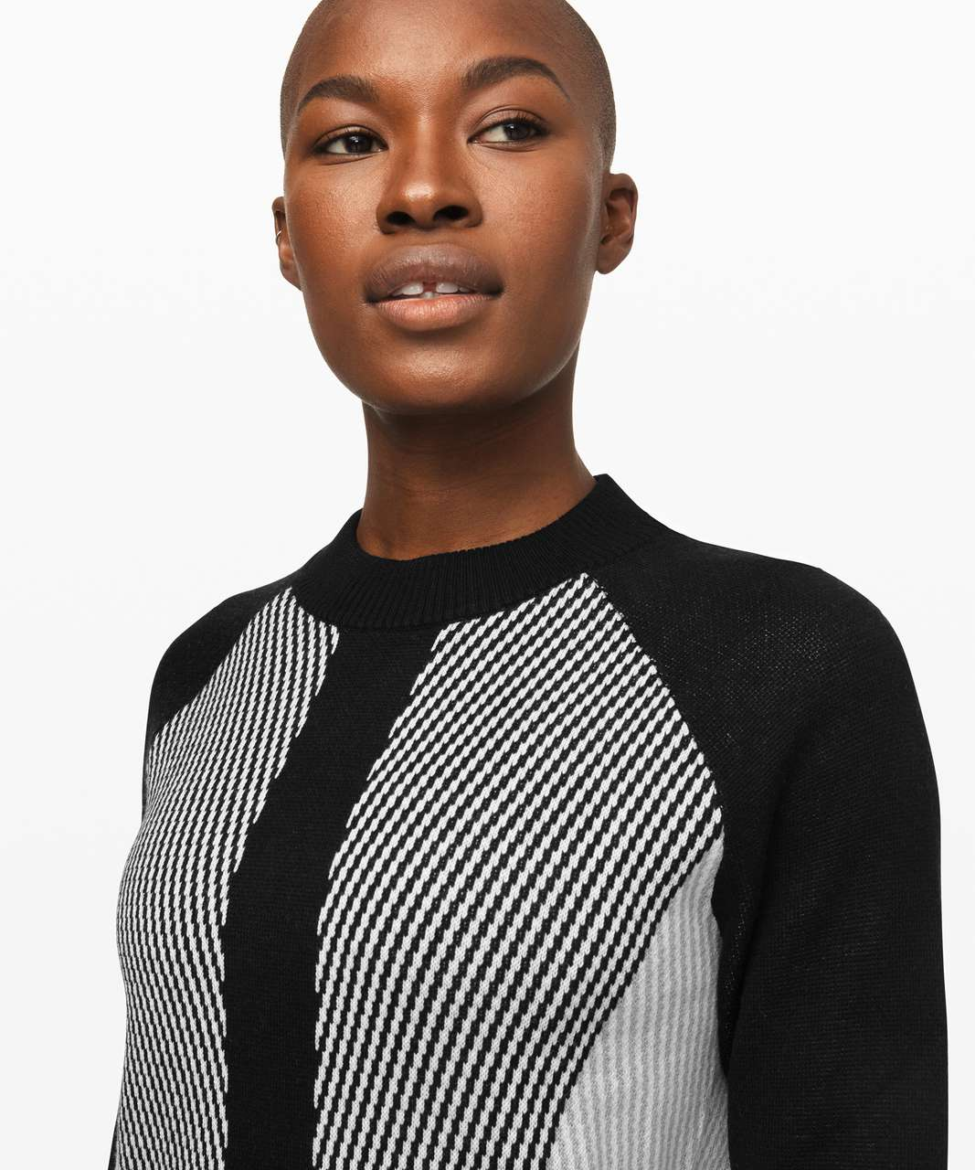 Lululemon Here for Serenity Sweater - Black / White / Silver Drop