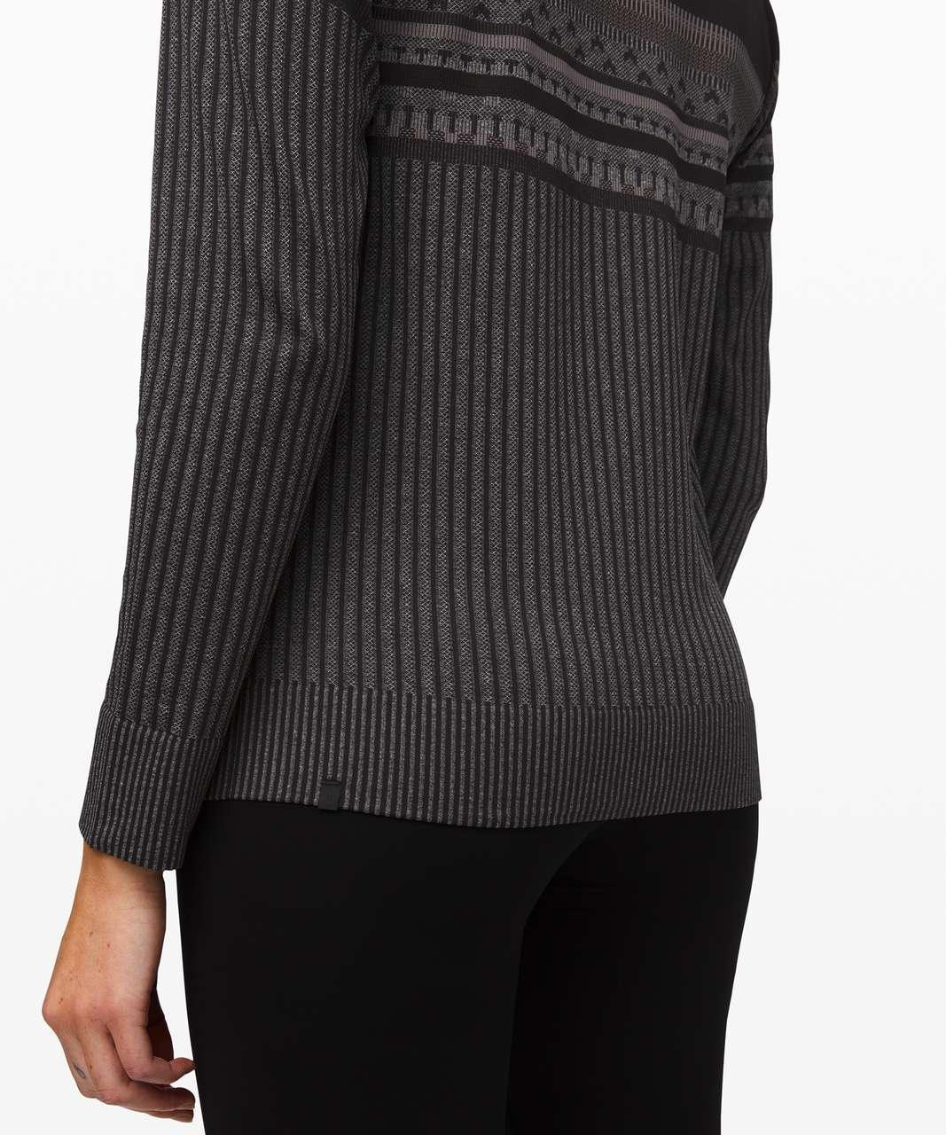 Lululemon Rest Less Pullover *Relaxed - Black / White / Titanium / Black