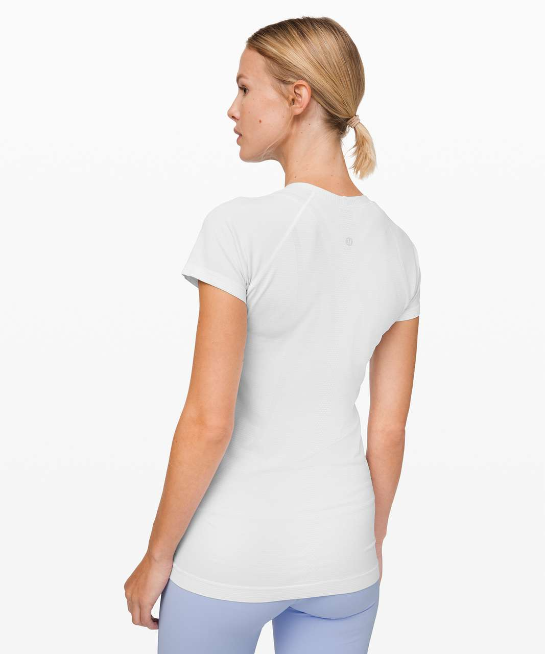 Lululemon Swiftly Speed Short Sleeve *Shine - White / White / Silver