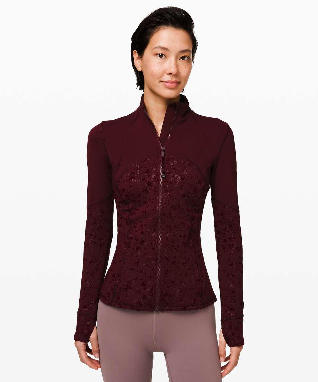 Lululemon Define Jacket *Speckle Shine - Garnet / Garnet