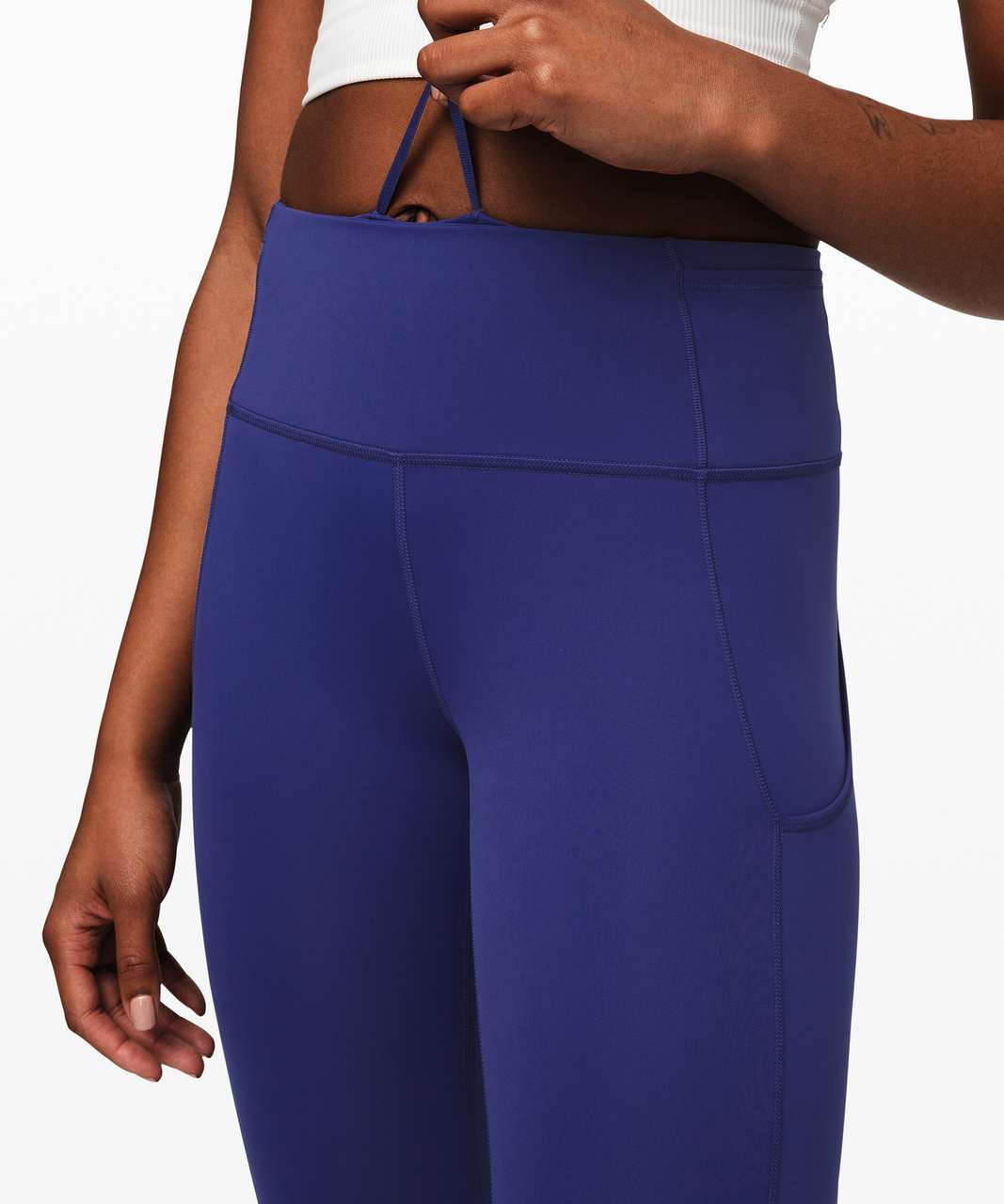 "Lululemon Fast and Free Tight II 25"" *Non-Reflective Nulux - Larkspur"