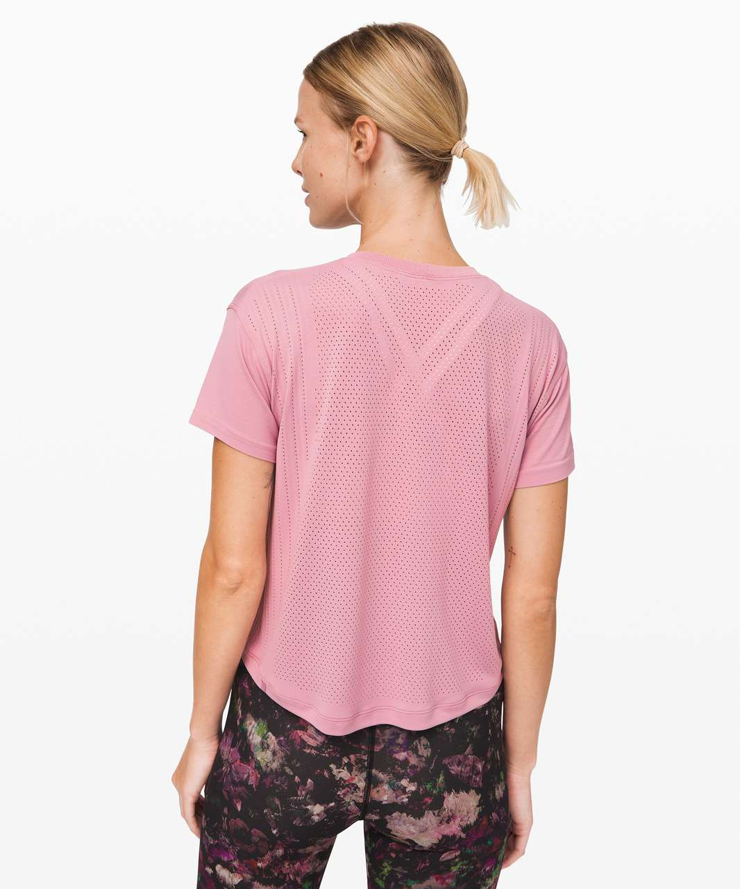 Lululemon Train to Be Short Sleeve - Pink Taupe / Pink Taupe