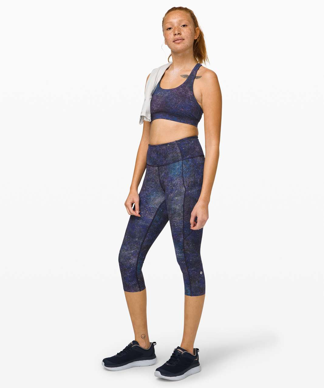 Lululemon Fast and Free High-Rise Crop II *Non-Reflective Nulux - Polar Lights Blue Multi