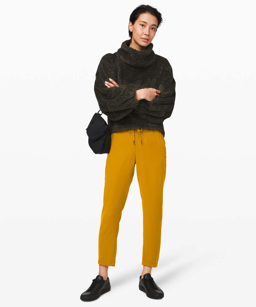 Lululemon On the Fly 7/8 Pant *Woven - Fools Gold