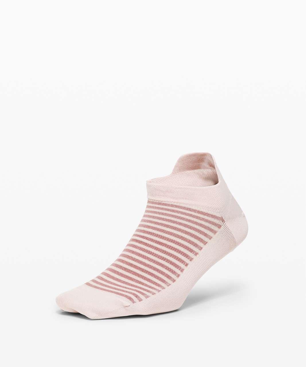 Lululemon Light Speed Sock *Silver - Pink Bliss / Misty Mocha